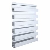 Aluminum Slatwall Panel Single Sided 48 x 12-1/4
