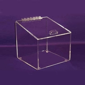 Angled Acrylic Box with Hinged Lid Large