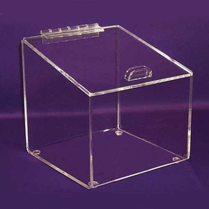 Angled Acrylic Box with Hinged Lid X-Large