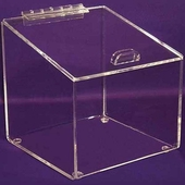 Angled Acrylic Box with Hinged Lid XX-Large