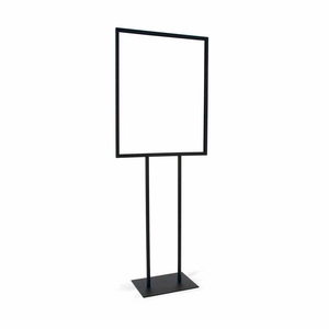 Bulletin Sign Holder 22in.x28in. w/Flat Base Black
