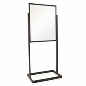 Bulletin Sign Holder 22in.x28in. w/Rectangular Tubing Base Black