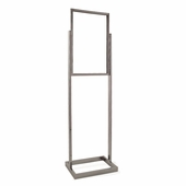 Bulletin Sign Holder w/Rectangular Tubing Base