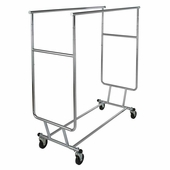 Collapsible Double Garment Rack