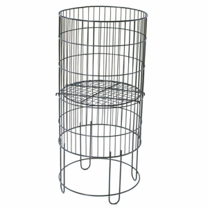 Collapsible Round Display Basket 15in. Black
