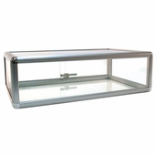 Counter Display Case Aluminum Frame 30in.W Silver