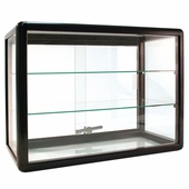 Counter Display Case Aluminum Frame 24in.W Black