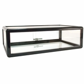Counter Display Case Aluminum Frame 30in.W Black