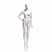 Eve Female Mannequin - Oval Head, Right Hand On Hip, Left Leg Slightly Bent