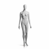 Female Mannequin Arms at Side, Left Leg Slightly Bent Slate Grey