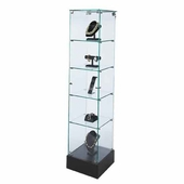 Frameless Square Tower Display Case