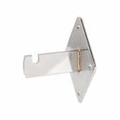 Grid Panel Wall Mount Bracket Chrome