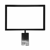 Gridwall 7in.H x 11in.W Metal Sign Holder Black