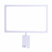 Gridwall 7in.H x 11in.W Metal Sign Holder White