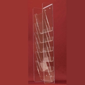 Gridwall Acrylic 7 Pocket Long Vertical Display