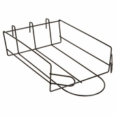 Gridwall Cap Shelf Black
