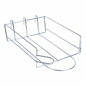 Gridwall Cap Shelf Chrome