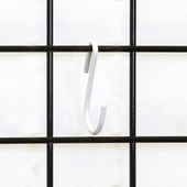Gridwall S Hooks White