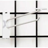 Gridwall Scanner Hook - 10in. White Finish
