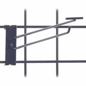 Gridwall Scanner Hook - 12in. Black Finish