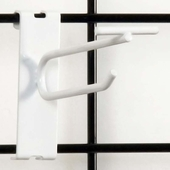 Gridwall Scanner Hook - 4in. White Finish