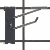 Gridwall Scanner Hook - 6in. Black Finish
