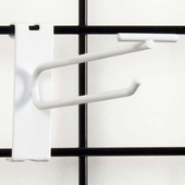 Gridwall Scanner Hook - 6in. White Finish