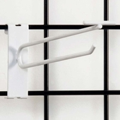 Gridwall Scanner Hook - 8in. White Finish