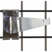 Gridwall Shelf Bracket 10in. Chrome
