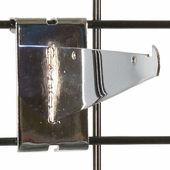 Gridwall Shelf Bracket 6in. Chrome