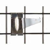 Gridwall Shelf Bracket 8in. Chrome