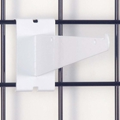 Gridwall Shelf Bracket 8in. White