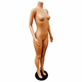 Headless Brazilian Full Body Female Mannequin with Arms