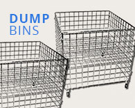 Freestanding Wire Grid Units & Dump Bins