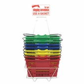 Jumbo Plastic Shopping Basket Set