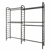 Ladder System Double 2-Tier Wall Unit