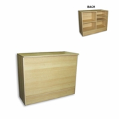 Low Cost FlatTop Cash Wrap Counter 48in. Maple