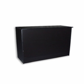 Low Cost FlatTop Cash Wrap Counter 70in. Black