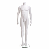 Male Mannequin Headless, Arms at Side