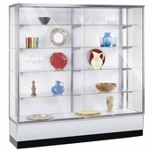 Metal Framed Upright Wall Display Case