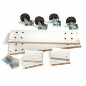 Optional caster kit for 4-Way Slatwall Merchandiser Only