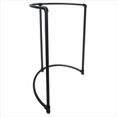 Pipeline Half Round Rack Black