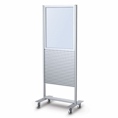Portable Slatwall Stand 2 Sided 22 x 28