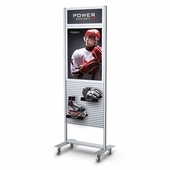 Portable Slatwall Stand 2 Sided with Header 22 x 28