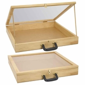 Portable Wood 3in. Deep Display Case