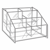 Quick Ship Acrylic 3 Tier Hosiery Bin Display