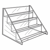 Quick Ship Acrylic 4 Tier Shelf Display