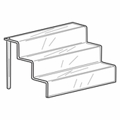 Quick Ship Acrylic 4in. Deep shelf Stairway