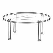Quick Ship Acrylic 6in. Round Table Display