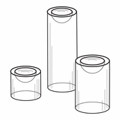 Quick Ship Acrylic Dimple Pedestals (Set of 3)